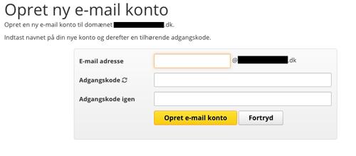 lav din egen email adresse