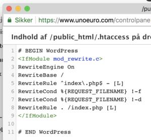 .htaccess kode
